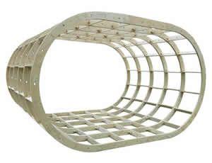 Oval Glamping Pod Frame Kit 3000mm x 4000mm